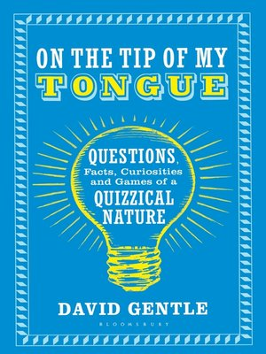 cover image of On the Tip of My Tongue