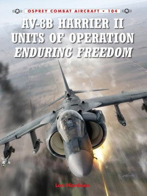 cover image of AV-8B Harrier II Units of Operation Enduring Freedom