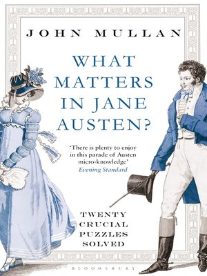 cover image of What Matters in Jane Austen?