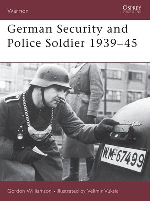cover image of German Security and Police Soldier 1939-45