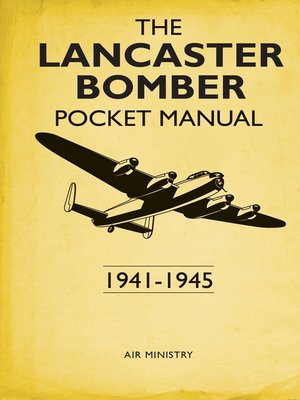 cover image of The Lancaster Bomber Pocket Manual