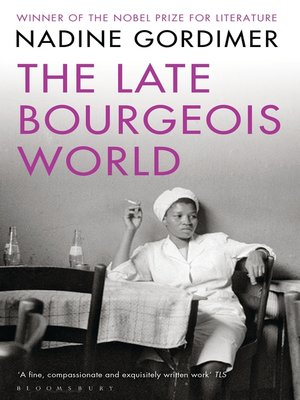 cover image of The Late Bourgeois World