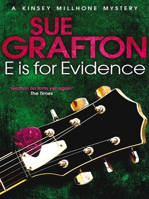 "cover image of ""E"" is for Evidence"