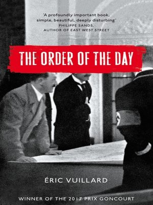 cover image of The Order of the Day