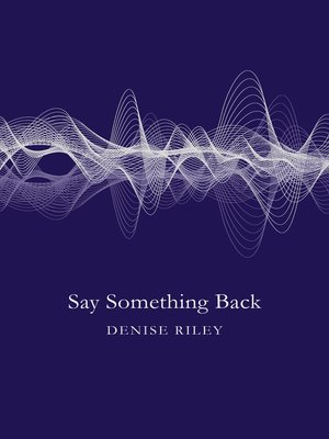 cover image of Say Something Back