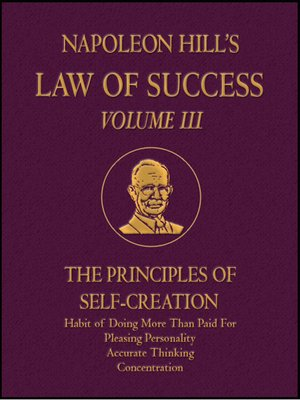 cover image of Law of Success Volume III