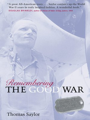 cover image of Remembering the Good War