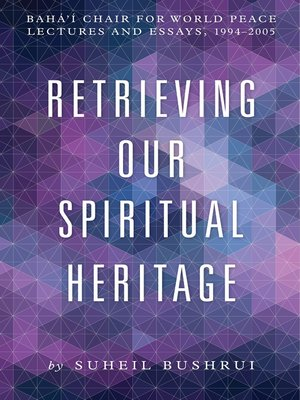 cover image of Retrieving Our Spiritual Heritage