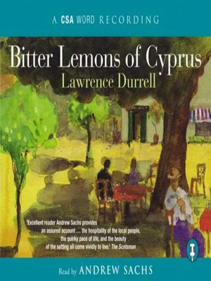 cover image of Bitter Lemons of Cyprus