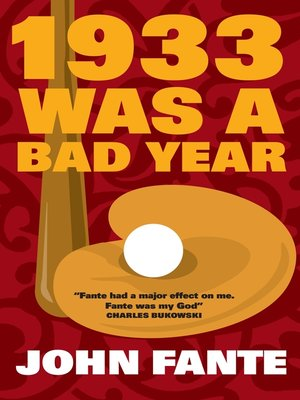 cover image of 1933 Was a Bad Year