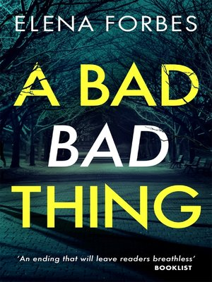 cover image of A Bad Bad Thing