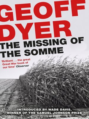 cover image of The Missing of the Somme