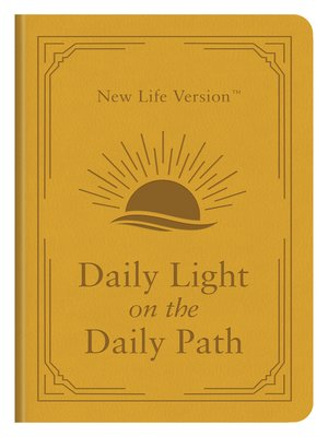 cover image of Daily Light on the Daily Path