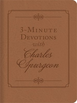 cover image of 3-Minute Devotions with Charles Spurgeon