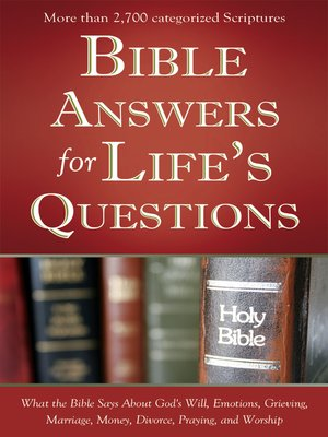 cover image of Bible Answers for Life's Questions