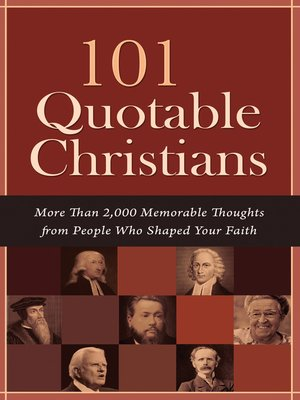 cover image of 101 Quotable Christians