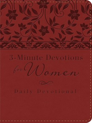 cover image of 3-Minute Devotions for Women: Daily Devotional (burgundy)