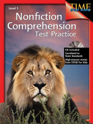 cover image of Nonfiction Comprehension Test Practice, Level 5