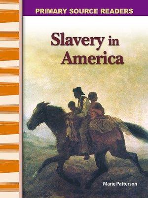 cover image of Slavery in America