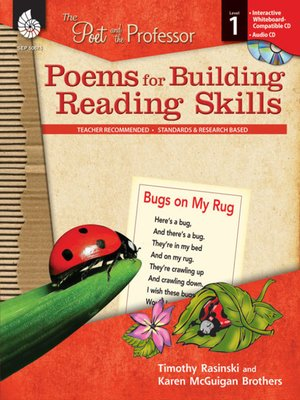 cover image of The Poet and the Professor: Poems for Building Reading Skills: Level 1