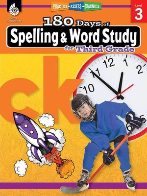 cover image of 180 Days of Spelling and Word Study for Third Grade