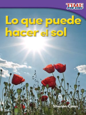 cover image of Lo que puede hacer el sol (What the Sun Can Do)