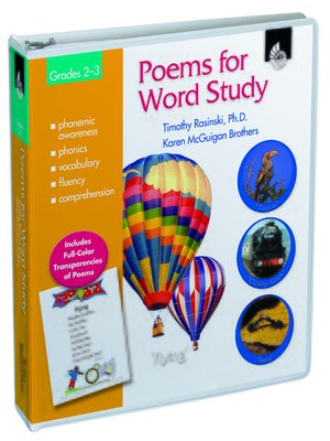 cover image of Poems for Word Study