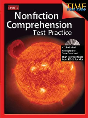 cover image of Nonfiction Comprehension Test Practice, Level 3