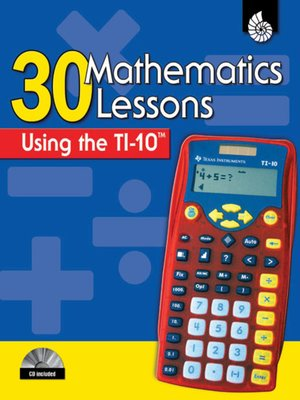 cover image of 30 Mathematics Lessons Using the TI-10