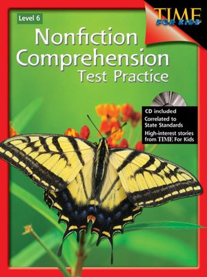 cover image of Nonfiction Comprehension Test Practice, Level 6