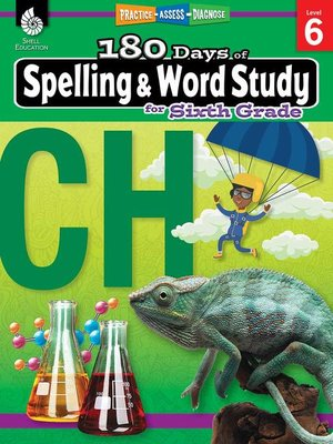 cover image of 180 Days of Spelling and Word Study for Sixth Grade