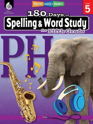 cover image of 180 Days of Spelling and Word Study for Fifth Grade