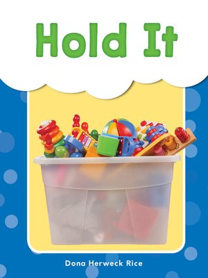 cover image of Hold It