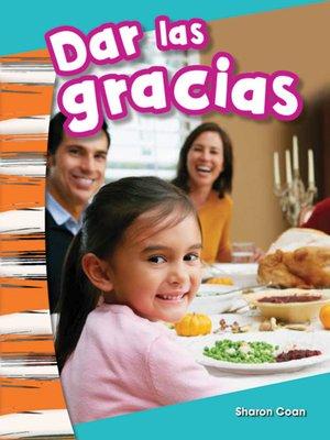 cover image of Dar las gracias (Giving Thanks)
