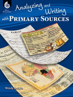 cover image of Analyzing and Writing with Primary Sources