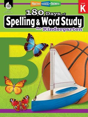 cover image of 180 Days of Spelling and Word Study for Kindergarten