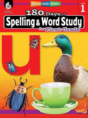 cover image of 180 Days of Spelling and Word Study for First Grade