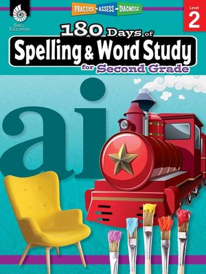 cover image of 180 Days of Spelling and Word Study for Second Grade