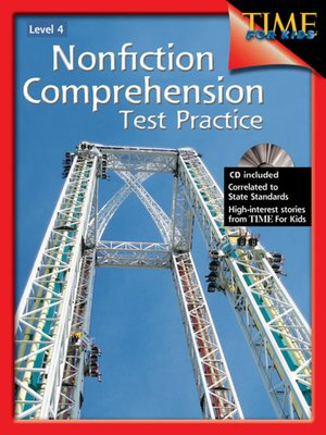 cover image of Nonfiction Comprehension Test Practice, Level 4