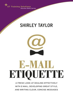 cover image of E-Mail Etiquette