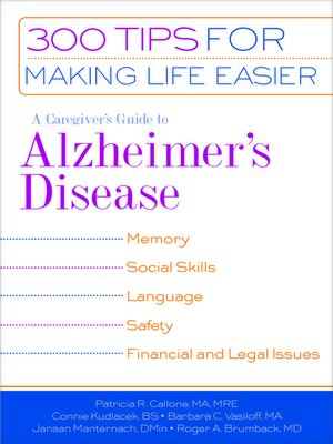 cover image of A Caregiver's Guide to Alzheimer's Disease