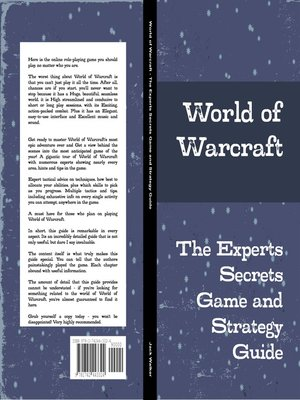 cover image of World of Warcraft - The Experts Secrets Game and Strategy Guide