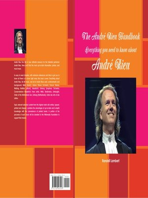 cover image of The André Rieu Handbook - Everything you need to know about André Rieu