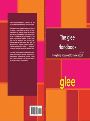 cover image of The Glee Handbook - Everything you need to know about Glee