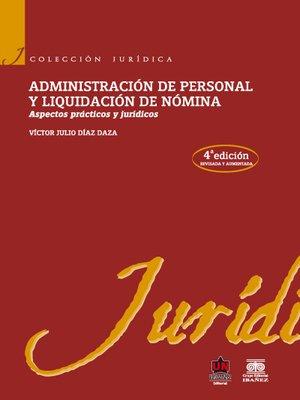 cover image of Administración de personal y liquidación de nómina
