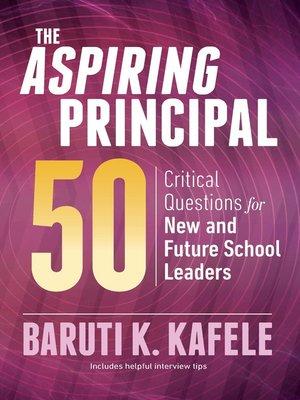cover image of The Aspiring Principal 50