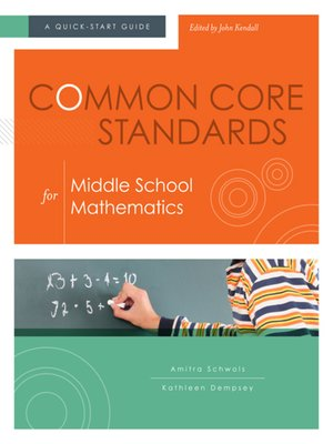 cover image of Common Core Standards for Middle School Mathematics
