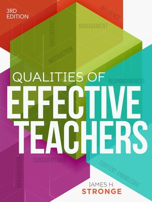 cover image of Qualities of Effective Teachers