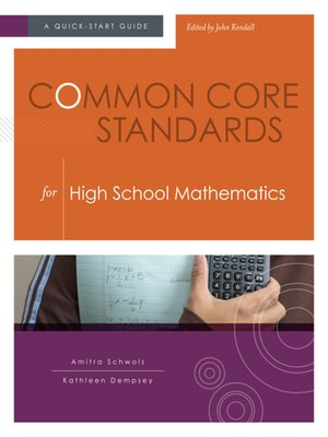 cover image of Common Core Standards for  High School Mathematics