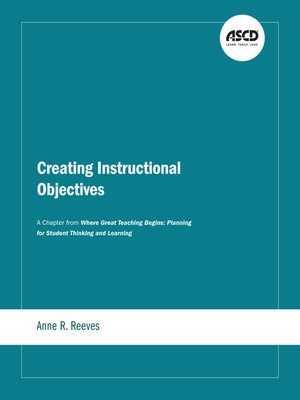 cover image of Creating Instructional Objectives
